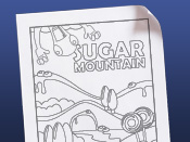 Sugar Mountain Coloring Page